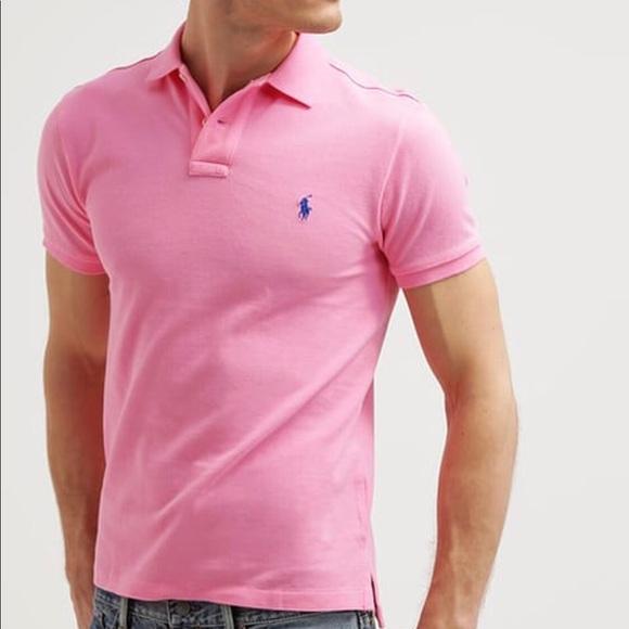 e32d8cf5 Polo Ralph Lauren Pink Custom Fit Polo Shirt. M_5ba18c0d7c979de9985df22e